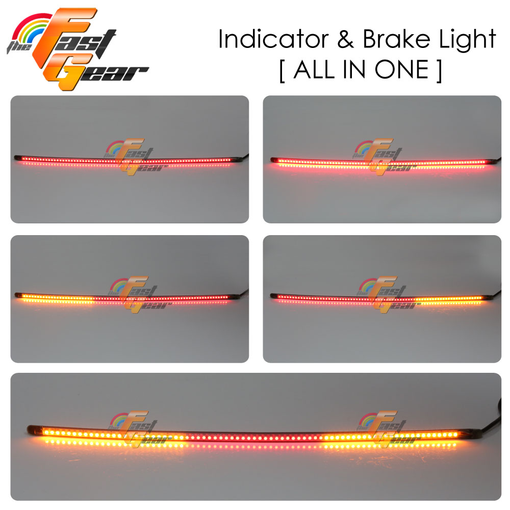Smoke 6 Quot Amp Z Flexible Led Tail Light Integrated 3528 Smd For Benelli Ebay
