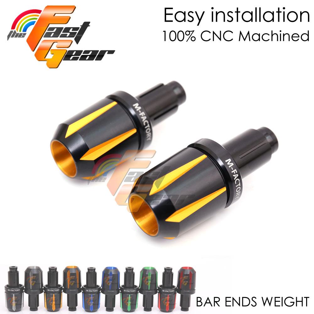 6Color CNC Bar Ends Set For ZX12R 2000-2006 00 01 02 03 04 05 06