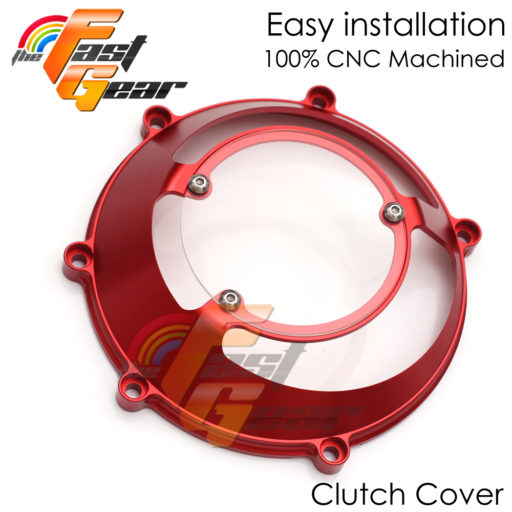 Red CNC Open Half Clutch Cover For 748 916 996 998 749 999 1098 CC45